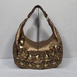 Isabella Fiore Star Studded Bronze Hobo Handbag